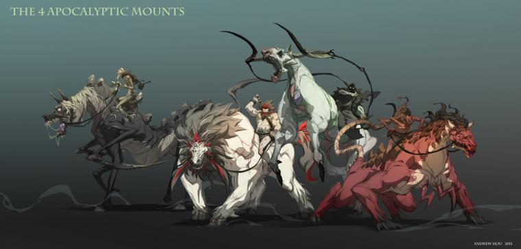 Horsemen by nJooDarksiders 4 Horsemen Wallpaper