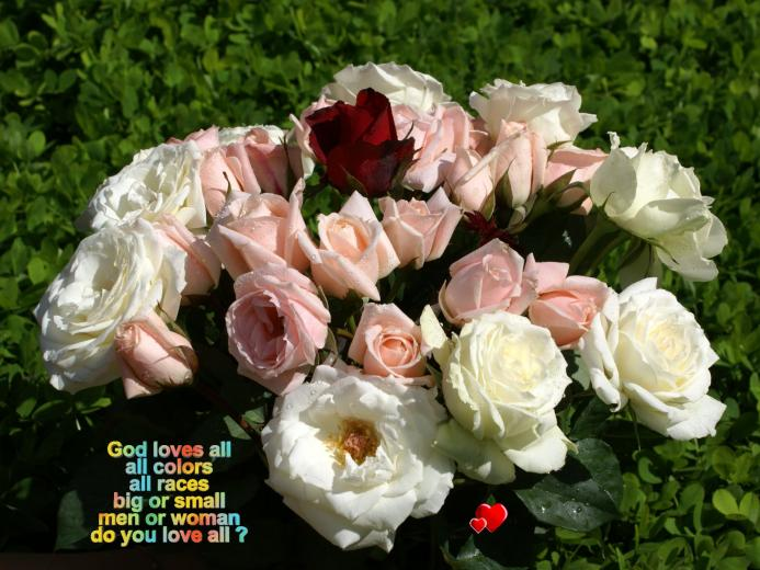 god wallpaper god loves all all colors all races big or small men or