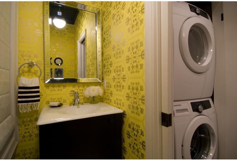 Bold Yellow Patterned Wallpaper Photos HGTV Canada