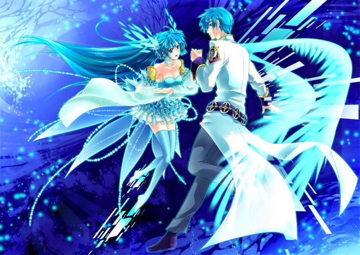anime blue desktop wallpaper download dancing anime blue wallpaper