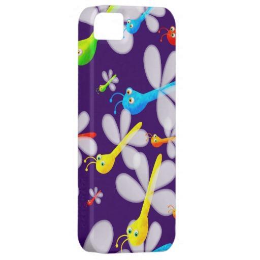 Cute Cartoon Dragonfly Wallpaper iPhone 5 Case