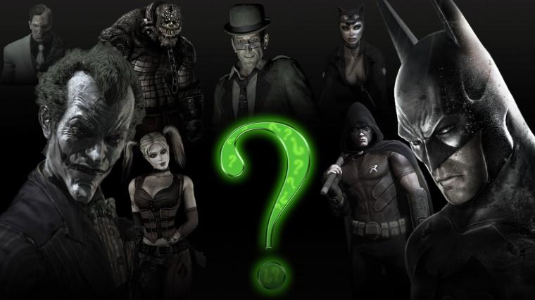 Batman Arkham City Batman Arkham Stad Joker Riddle Wallpaper