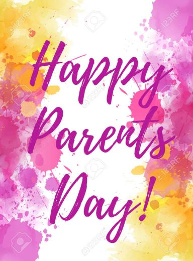 Happy Parents Day Holiday Background With Abstract Watercolor