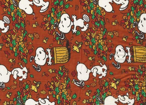 Fall Frolic PEANUTS Character Woodstock SNOOPY Fabric by WitSister