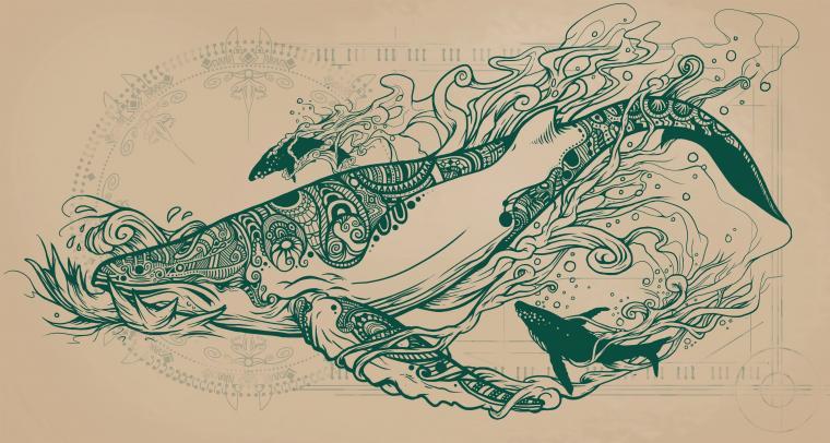 Flying Whales Art Art Tattoo drawings Drawings