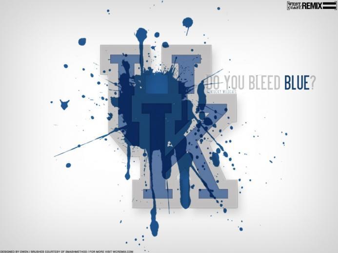 Do You Bleed Blue University of Kentucky Desktop Wallpaper