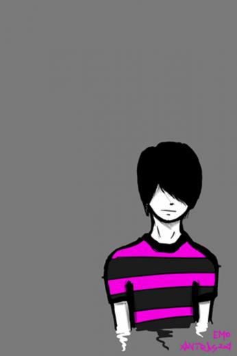 EMO Boy iPhone 4 Wallpaper and iPhone 4S Wallpaper
