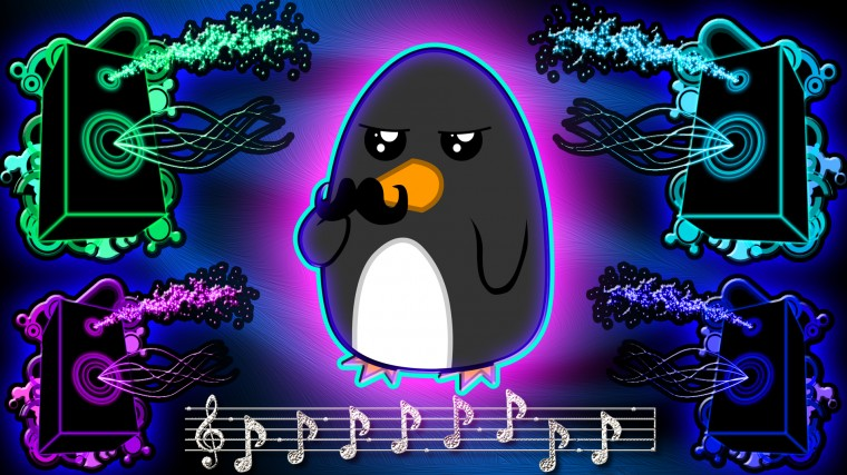 Awesome Neon Pictures Neon penguin wallpaper by