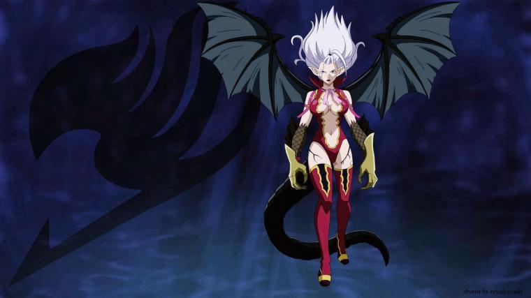 mirajane strauss demon satan anime girl fairy tail wings hd wallpaper