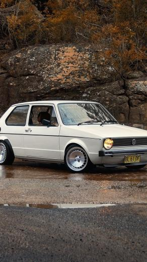 720x1280 auto nature cars golf vw volkswagen mk1 road