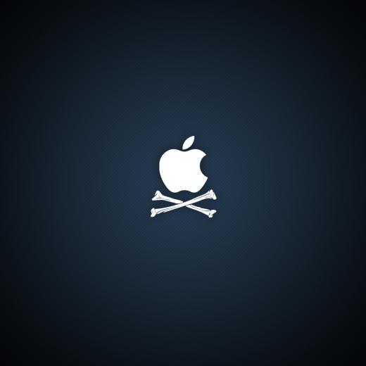 Pirate Apple Logo iPad 2 Wallpapers iPad Retina HD Wallpapers