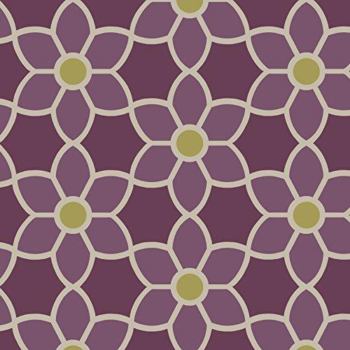 2535 20610 Blossom Geometric Floral Wallpaper Purple Awardpediacom