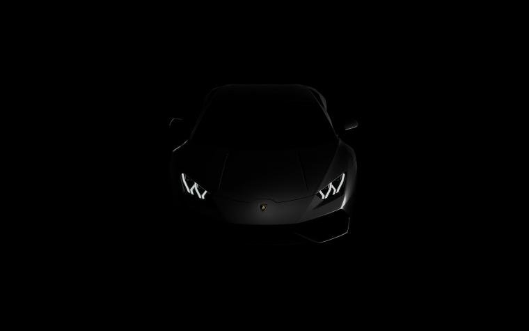 Lamborghini huracan lp black dark 4k wallpaper View HD