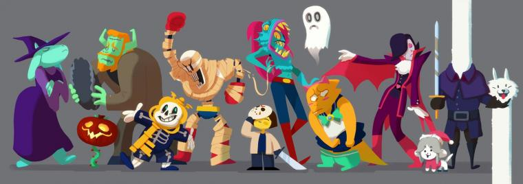 Undertale Halloween by Art Calavera