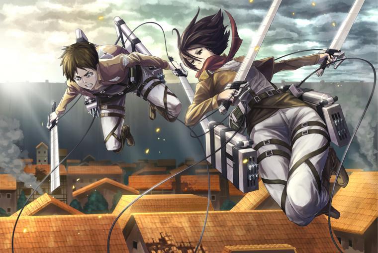 Mikasa Ackerman Anime Sword Blade HD Wallpaper Desktop Background