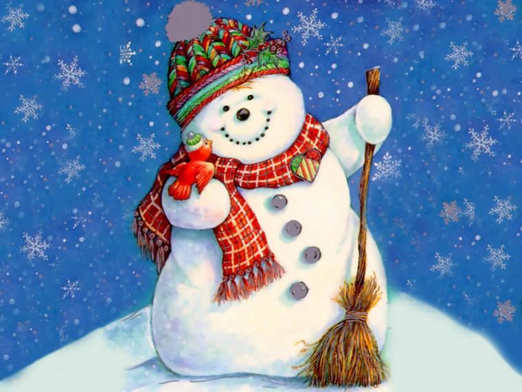 Christmas Wallpapers Christmas Snowman Wallpapers