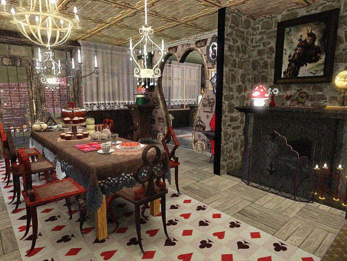 DOTY Round 2  Alice in Wonderland Kitchen Dining Room   by SandyMDH