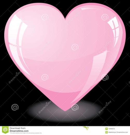 Pink Heart On Black Background Royalty Stock Photo   Image