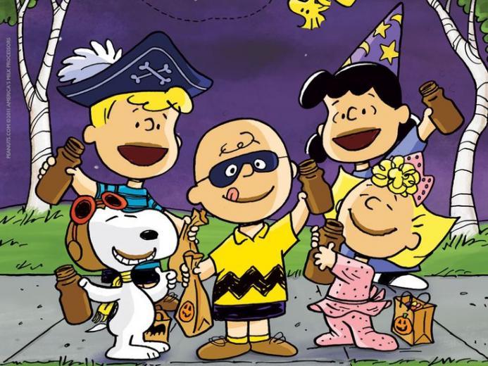 wallpaper 1024x768jpg Peanuts Gang Got Milk Halloween costumes