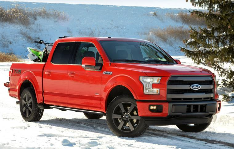 2015 Ford F 150 Red Pickup Truck Wallpaper   HD