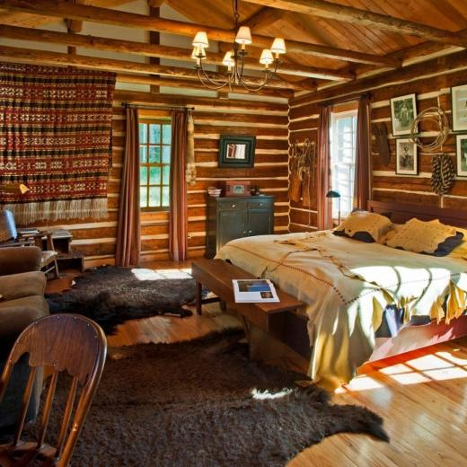 Log Cabin Bedroom Suite Hd Wallpaper Wallpaper List
