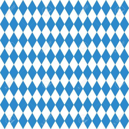 Oktoberfest Checkered Background And Bavarian Flag Pattern Royalty