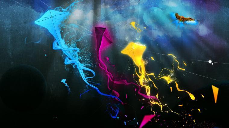 Colorful Kites desktop wallpaper