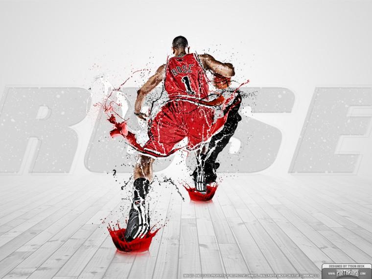 wallpaper of Derrick Rose in the Chicago Bulls