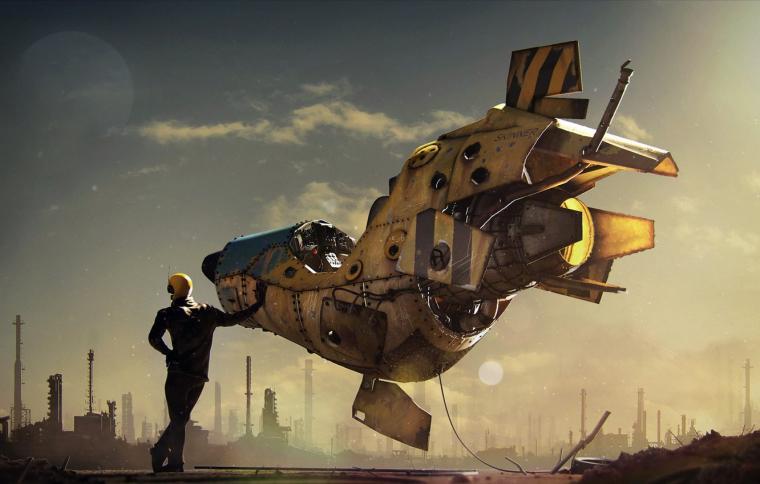 Wallpaper moon fantasy sky science fiction stars man sci fi