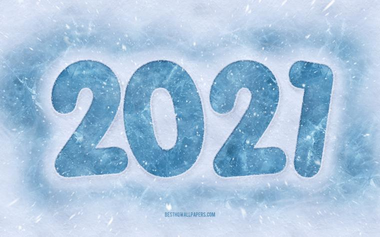 Download wallpapers 2021 New Year 2021 Winter background Happy