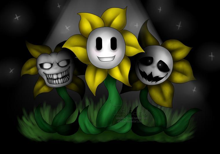 Undertale Flowey the Flower by Isledow