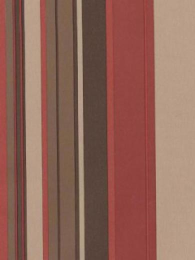 Stripe Retro Wallpaper Burgundy Beige Brown   DY Home Decor