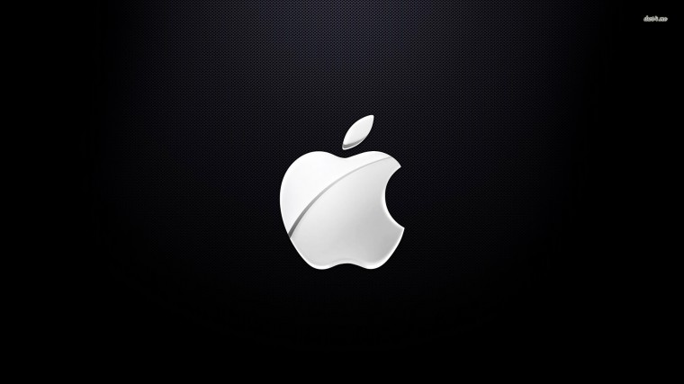Apple Logo Pictures Black and White HD Wallpaper of Black and White
