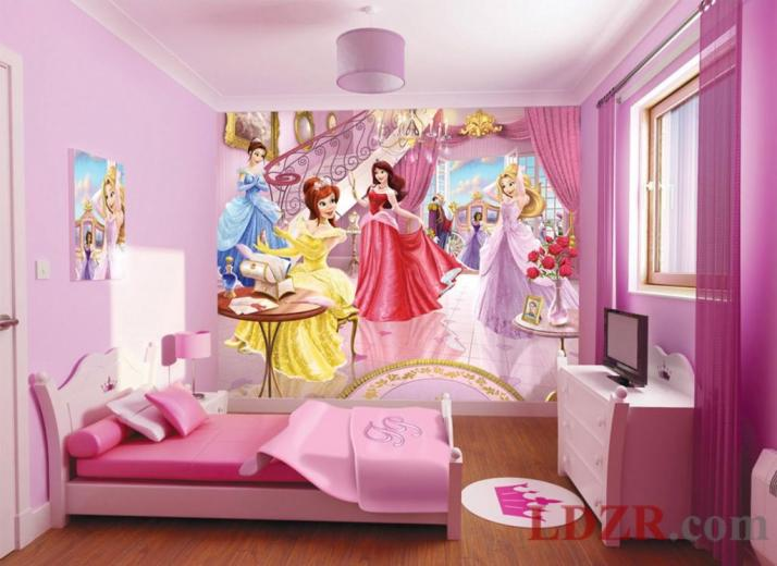 Children Room Wallpaper with Princess Themes Home design and ideas