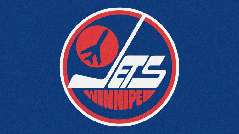 Blue sports hockey NHL ice hockey logos Winnipeg Jets 80s