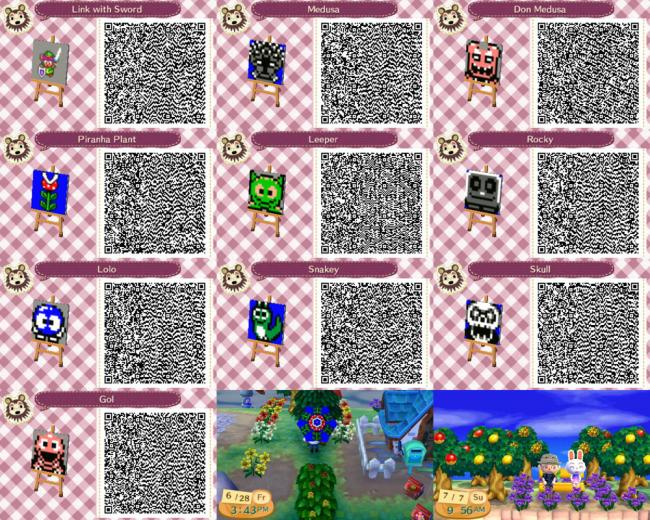 Animal Crossing New Leaf Custom Design QR Codes by insanehuman19 on