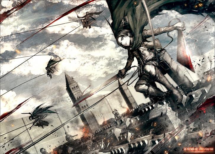 Titan Shingeki no Kyojin Anime HD Wallpaper Desktop PC Background 2122
