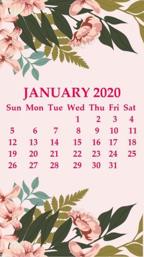 iPhone January 2020 Calendar Wallpaper january january2020