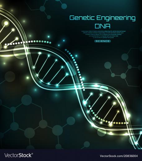 Science template wallpaper or background with a Vector Image