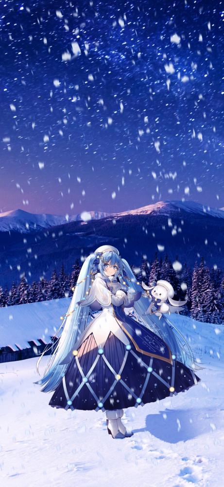 Thought yall might enjoy these snow Miku 2021 wallpapers I edited