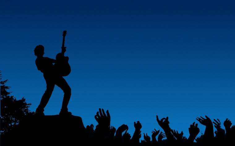 Silhouette Rock Concert Wallpaper Wallpaper WallpaperLepi