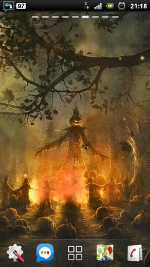 Download Halloween Camp Fire Live Wallpaper apps for Android