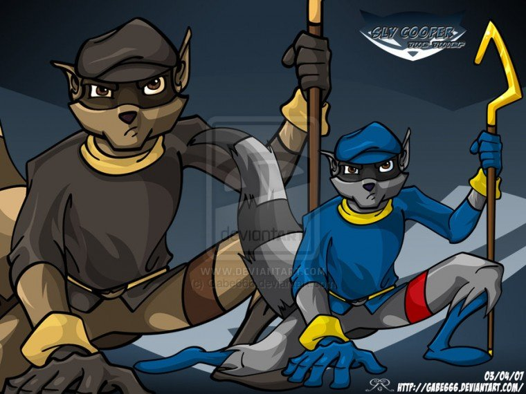 Wallpaper Sly Cooper 1 by Gabe666
