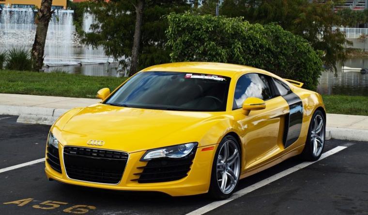 papel de parede audi r8 amarelo supercar Audi automvel carro