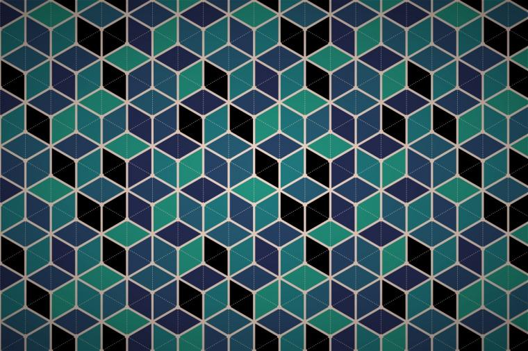 hexagonal cube mesh wallpaper patterns