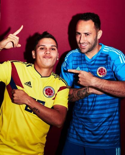 Juan Fernando Quintero y David Ospina Shu Mama Colombia