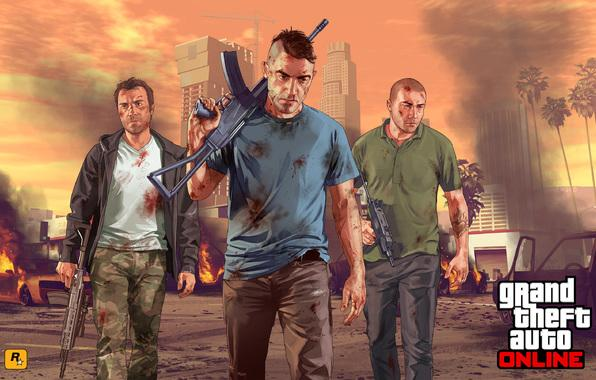 Wallpaper grand theft auto 5 gta online soldiers city team