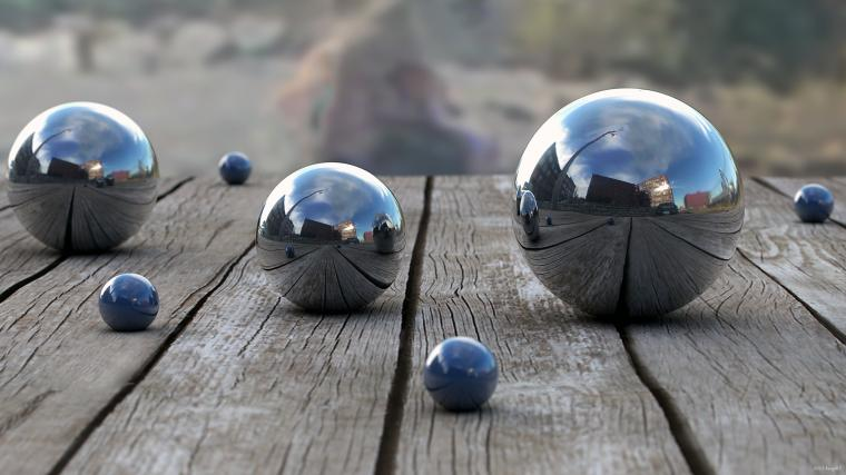 Balls Wood Reflection depth 3d bokeh wallpaper 2560x1440 48948