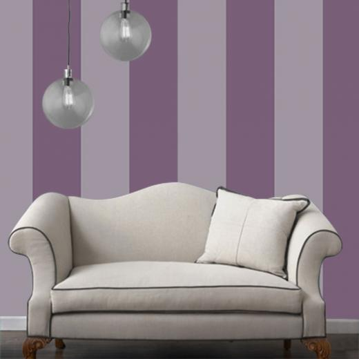 Temporary Wallpaper   Striped   Purple