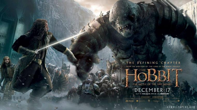 The Hobbit The Battle of the Five Armies Poster HD Wallpaper   iHD